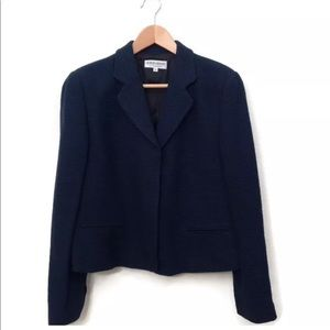 Giorgio Armani Jacket Wool Textured Blazer Career